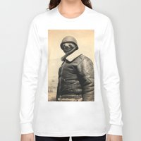 general Long Sleeve T-shirts featuring General Sloth by Bakus