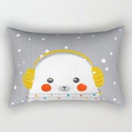 Christmas Baby Seal Rectangular Pillow