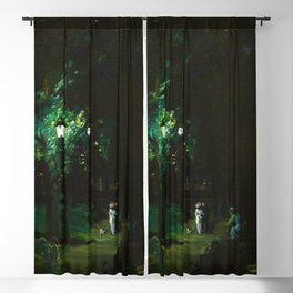 Central Park, Summer Night, Riverside Drive landscape by George Wesley Bellows Blackout Curtain