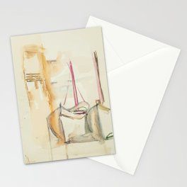 Two Boats on the sand Stationery Cards