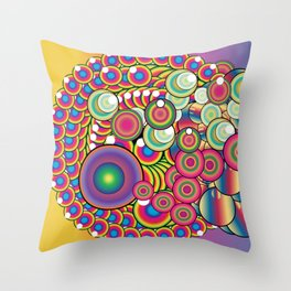 Circus Dripper Throw Pillow