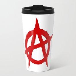 anarchy symbol red Travel Mug