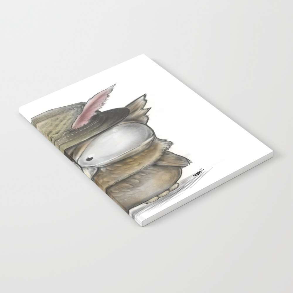 I'll Show You A Hoot! - Angry Owl Illustration - K… Notebook by Steelartstudios NBK8248708