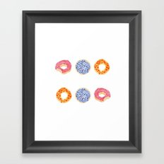 doughnut selection Framed Art Print