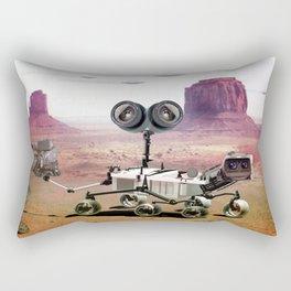 Behind you, Mars Rover Rectangular Pillow