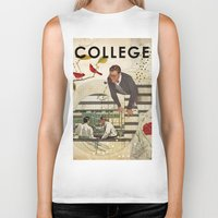 college Biker Tanks featuring Welcome to... College by Heather Landis