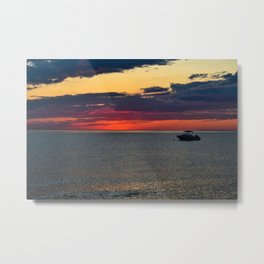 Later Bathing in the Afterglow Metal Print