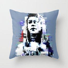 Golden Blue Throw Pillow