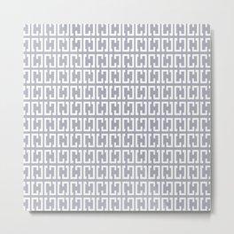 Scandinavian Grey Pattern Metal Print