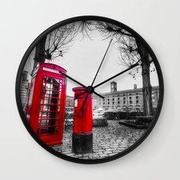 Post Box Phone Box Wall Clock