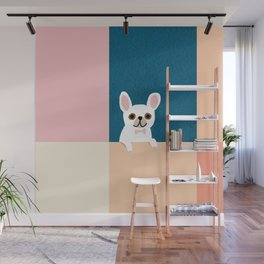 Little_French_Bulldog_Love_Minimalism_001 Wall Mural