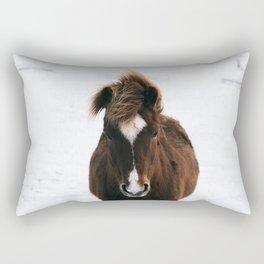 Snowy Horse Rectangular Pillow