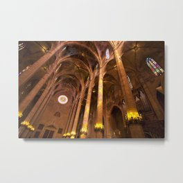 Inside Palma cathedral Metal Print