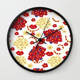 Spring mood Wall Clock