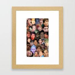 ONE DIRECTION - DERP COLLAGE Framed Art Print