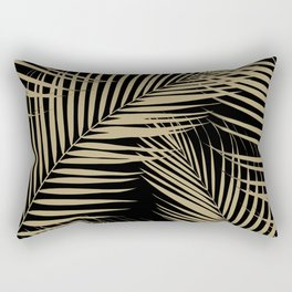 Palm Leaves - Gold Cali Vibes #2 #tropical #decor #art #society6 Rectangular Pillow