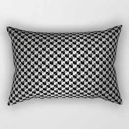 Black and Silver Gray Ghost Checkerboard Weimaraner Rectangular Pillow