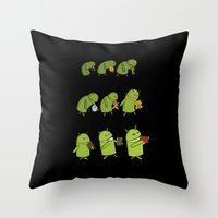 android Throw Pillows featuring Android Evolution by CromMorc