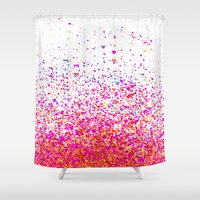 sparkles Shower Curtains featuring sparkles by Bunny Noir
