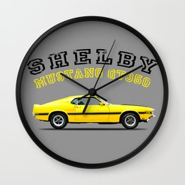 Shelby Mustang GT350 Wall Clock