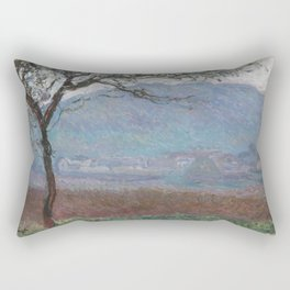 Landscape at Giverny by Claude Monet Rectangular Pillow