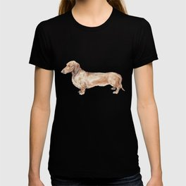 A long dog: Dachshund doxie puppy dog watercolor pet portrait T-shirt