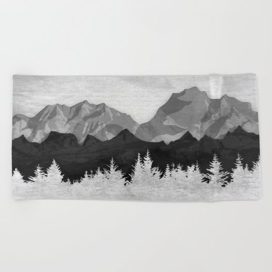 Layered Landscapes Beach Towel