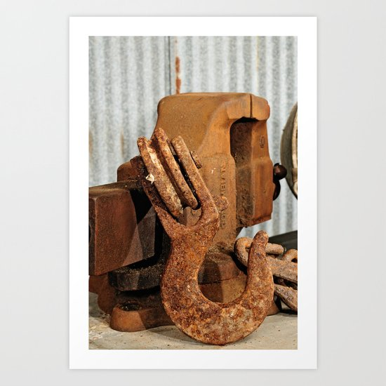 Hook and Vise Art Print