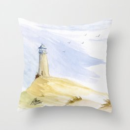 Lighthouse Impressions IV Throw Pillow