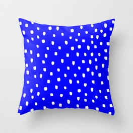 Snow Blue Sky - Bright Blue Furniture Throw Pillow