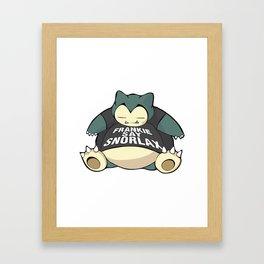 Frankie Say Snorlax Framed Art Print