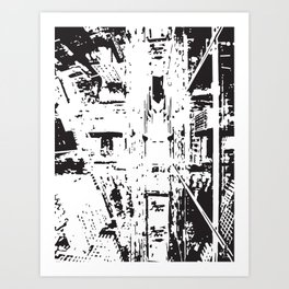 City View - Black & White Art Print