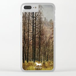 Burnt Trees Clear iPhone Case