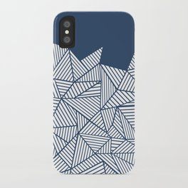 Abstract Mountain Navy iPhone Case