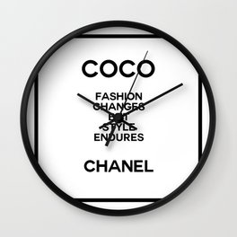 coco quote no. 10 Wall Clock