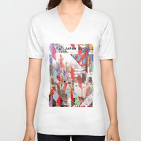 japan V-neck T-shirts featuring Japan by Stylegrafico