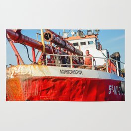Le navire rouge Rug