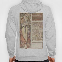 Alphonse Mucha - Vintage Poster for Austria at the 1900 World's Fair, Paris (1899) Hoody
