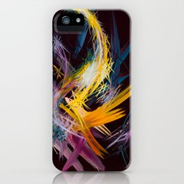 Fractured Realities and Dreams Brought to Light iPhone Case