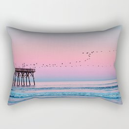 Beach Birds Sunset  Rectangular Pillow