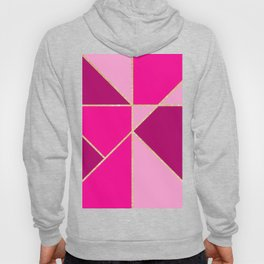 Modern color block pink neon pastel gold stripes Hoody
