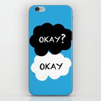 tfios iPhone & iPod Skins featuring TFIOS - Okay by //SOLIDS//