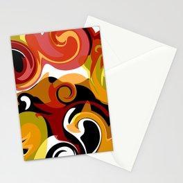 Molten Lava Swirls Stationery Cards