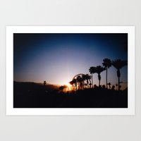 coachella Art Prints featuring coachella by riss