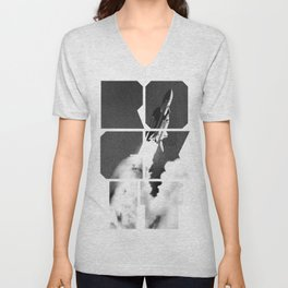 ROCKIT (Black on White) Unisex V-Neck