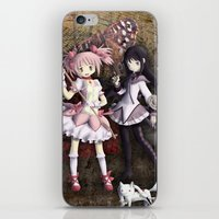 madoka iPhone & iPod Skins featuring Madoka by drawn4fans