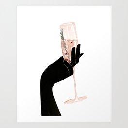 Champagne Chic Art Print