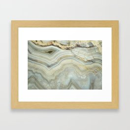 White Agate Framed Art Print