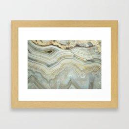 White Agate Framed Art Print