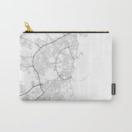 Minimal City Maps - Map Of Aarhus, Denmark. Carry-All Pouch